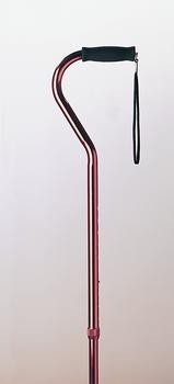 Adjustable Aluminum Cane w/Offset Handle, Ea, Bronze Finish