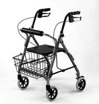 Aluminmum Rollator with Loop Brakes, Ea, Black