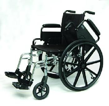 "Economy High Performance Lightweight Wheelchair , Ea, 16"" with swingaway footrests"