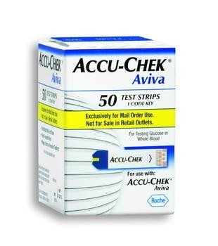 ACCU-CHEK Aviva Test Strips, Bx-50