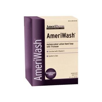 AmeriWash Antimicrobial Lotion Soap with Triclosan, Ea, 800 ml
